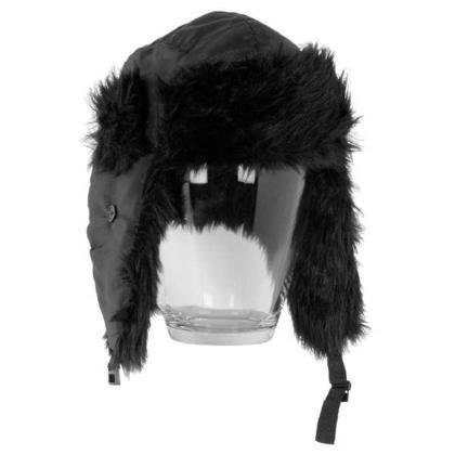 Chapeau noir fourrure 2asst. M/L