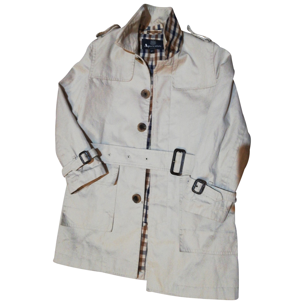 Aquascutum - Blousons.Manteaux   pour enfant en coton - beige