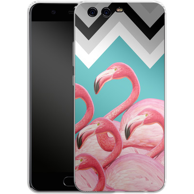 Huawei P10 Silikon Handyhuelle - Flamingo Pattern von Mark Ashkenazi