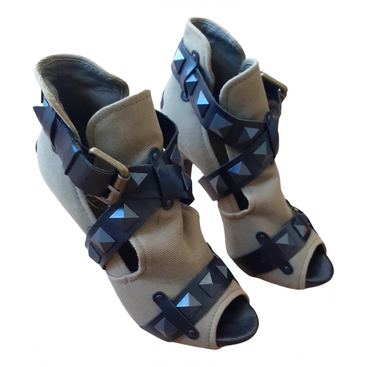 Ash - Boots   pour femme en toile - kaki