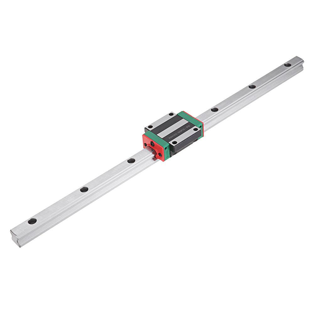 Machifit HGR15 100-1000mm Linear Rail Guide with HGW15CC Linear Rail Slide Flange Block CNC Parts