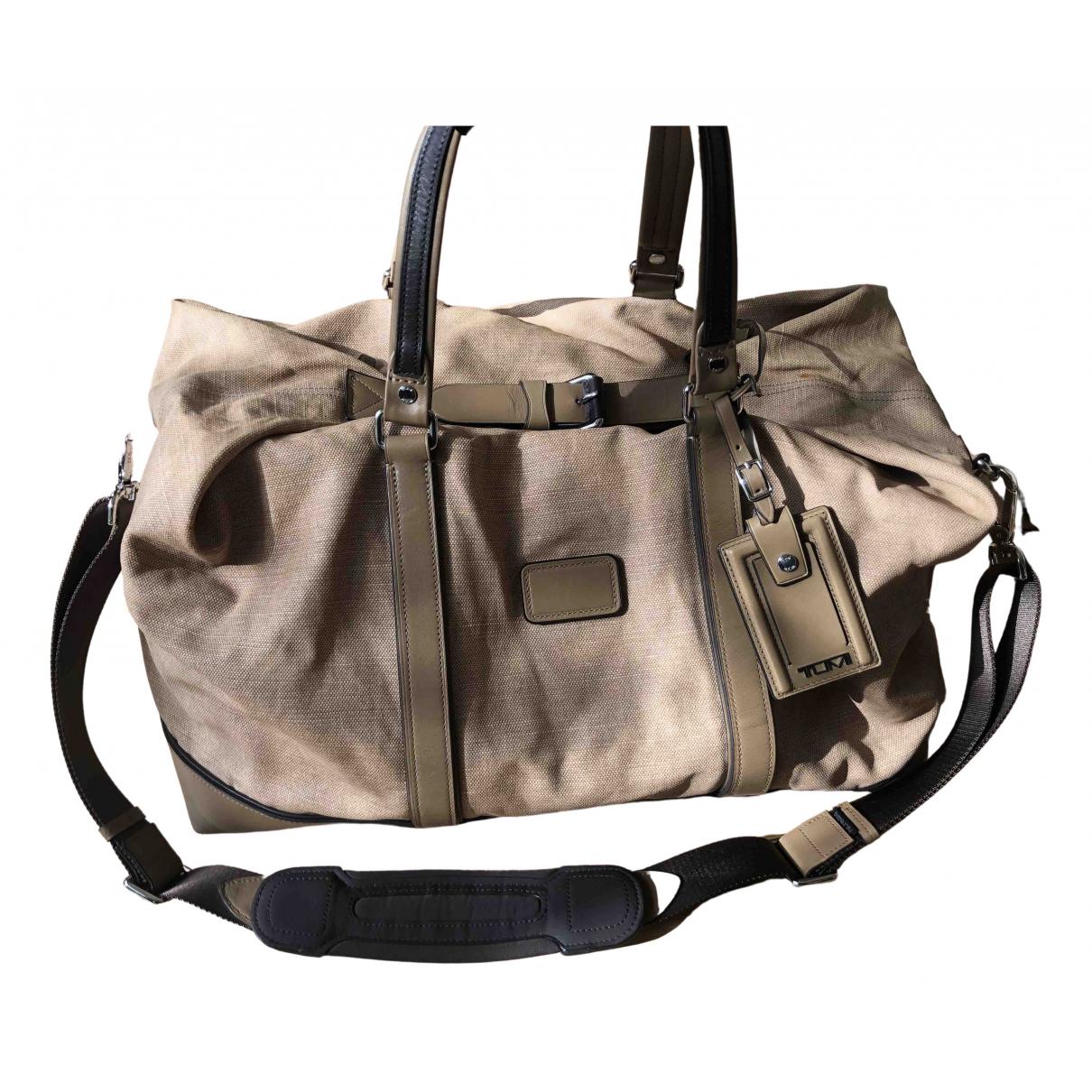 Tumi N Beige Linen Travel bag for Women N