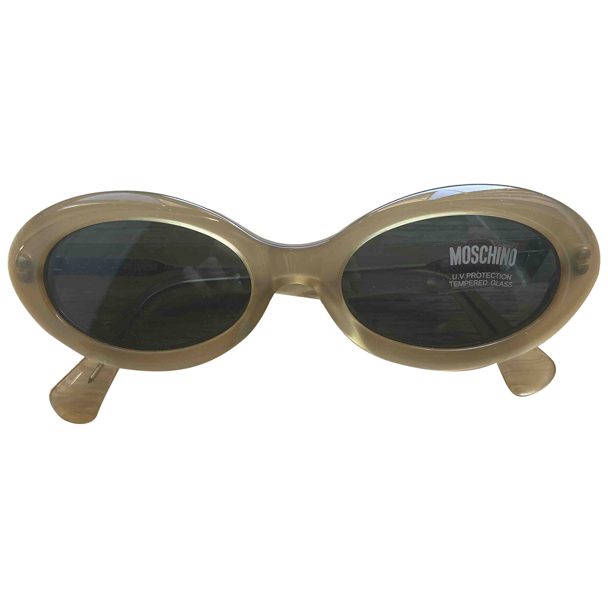 Moschino - Lunettes   pour femme - beige