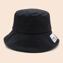Letter Patched Bucket Hat