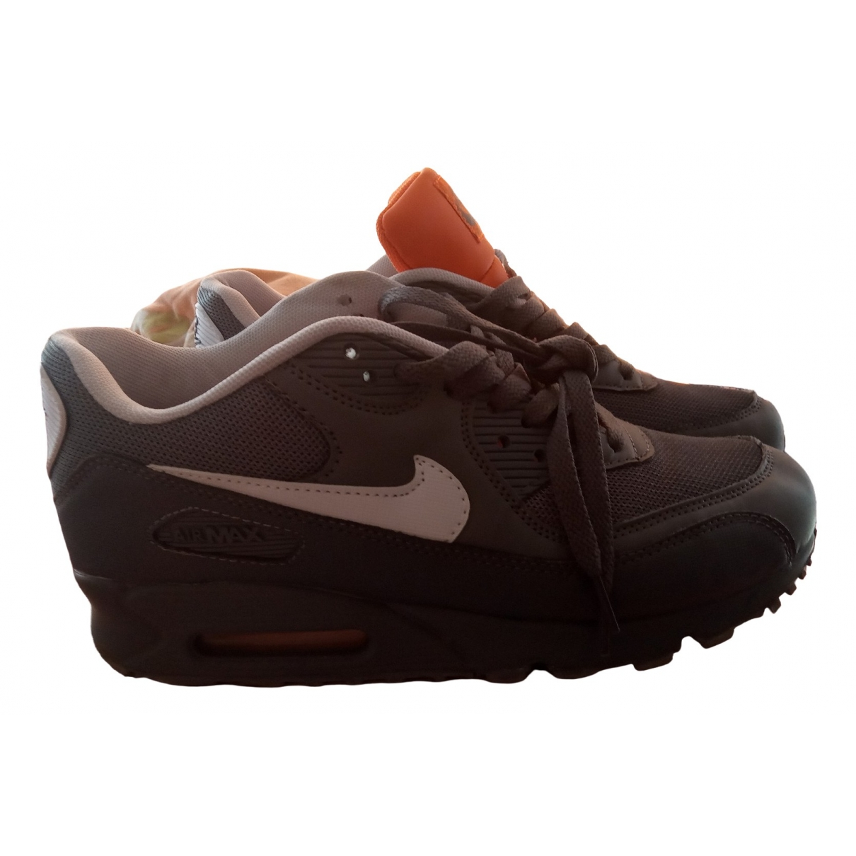 Nike Air Max 90 Grey Leather Trainers for Men 43 EU