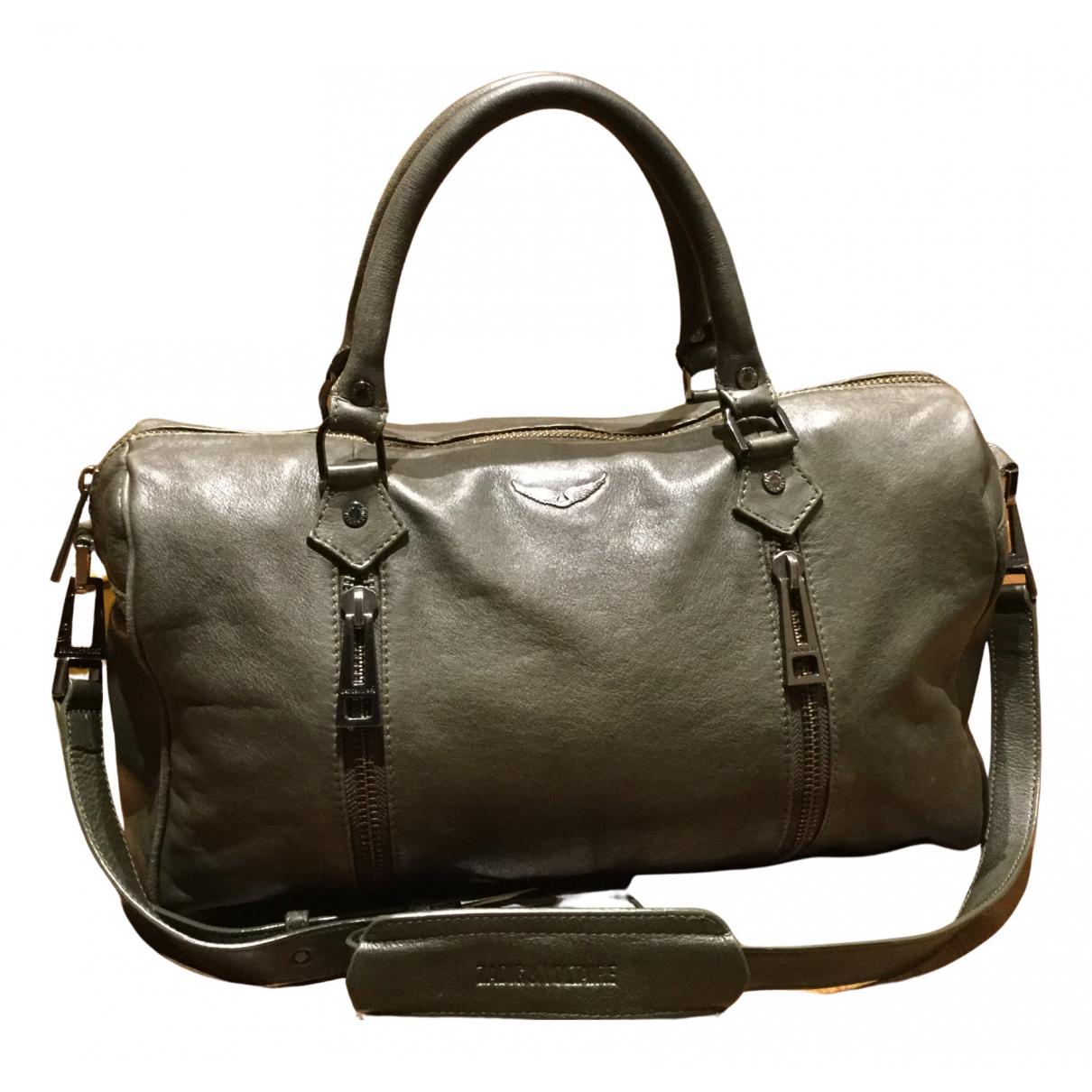 Zadig & Voltaire Sunny Handtasche in  Khaki Leder