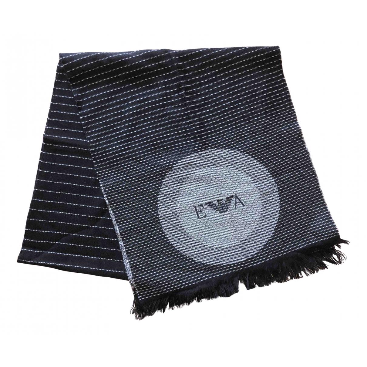 Emporio Armani \N Tuecher, Schal in  Schwarz Wolle