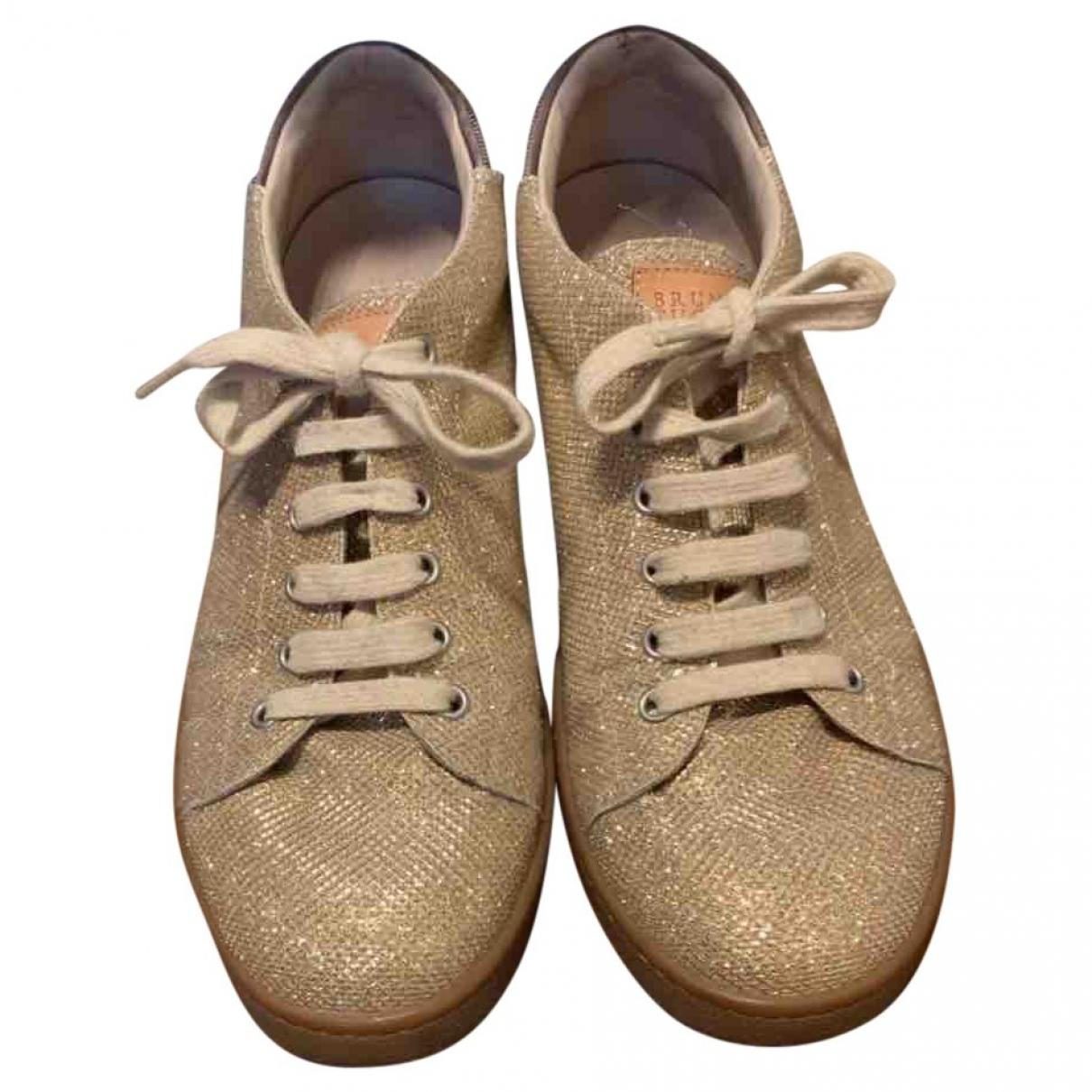 Brunello Cucinelli \N Gold Glitter Lace ups for Women 41 EU