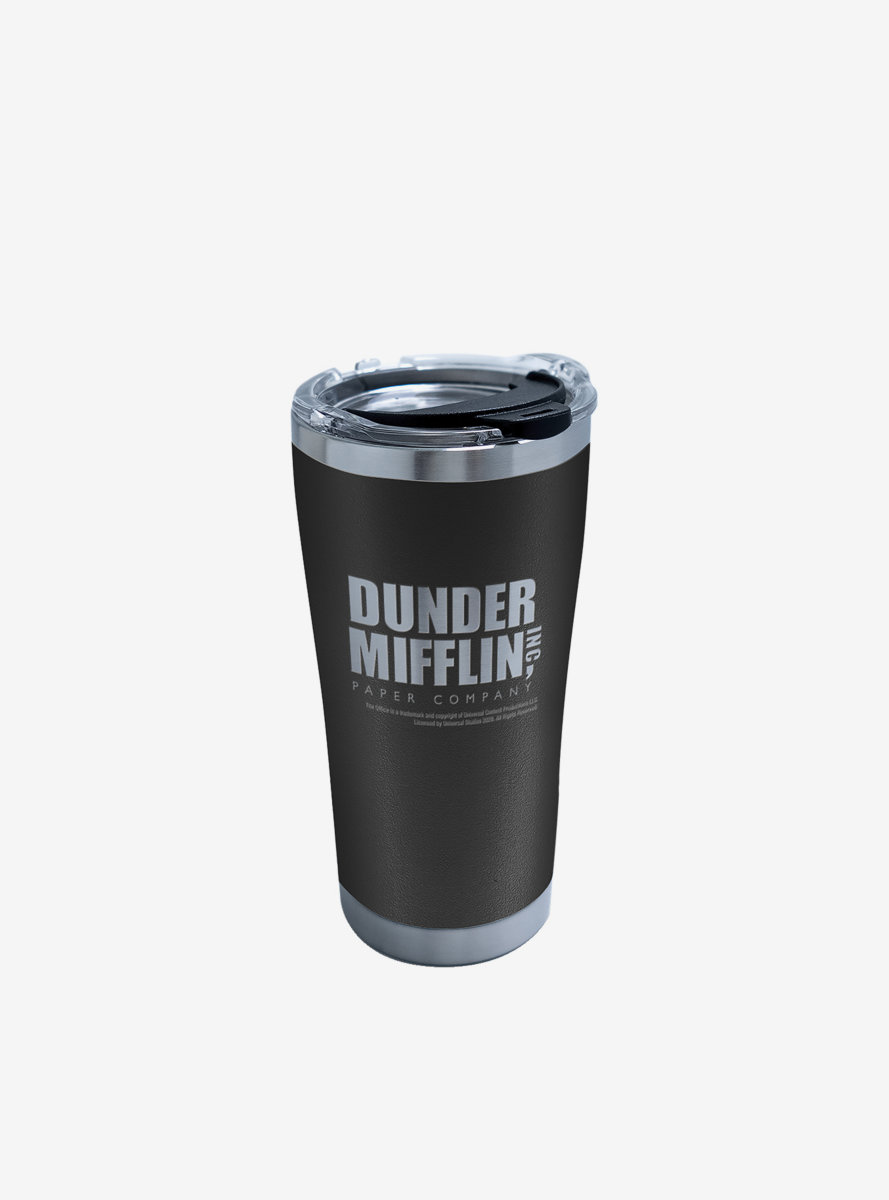 The Office Dunder Mifflin Etched Onyx Shadow 20oz Stainless Steel Tumbler With Lid