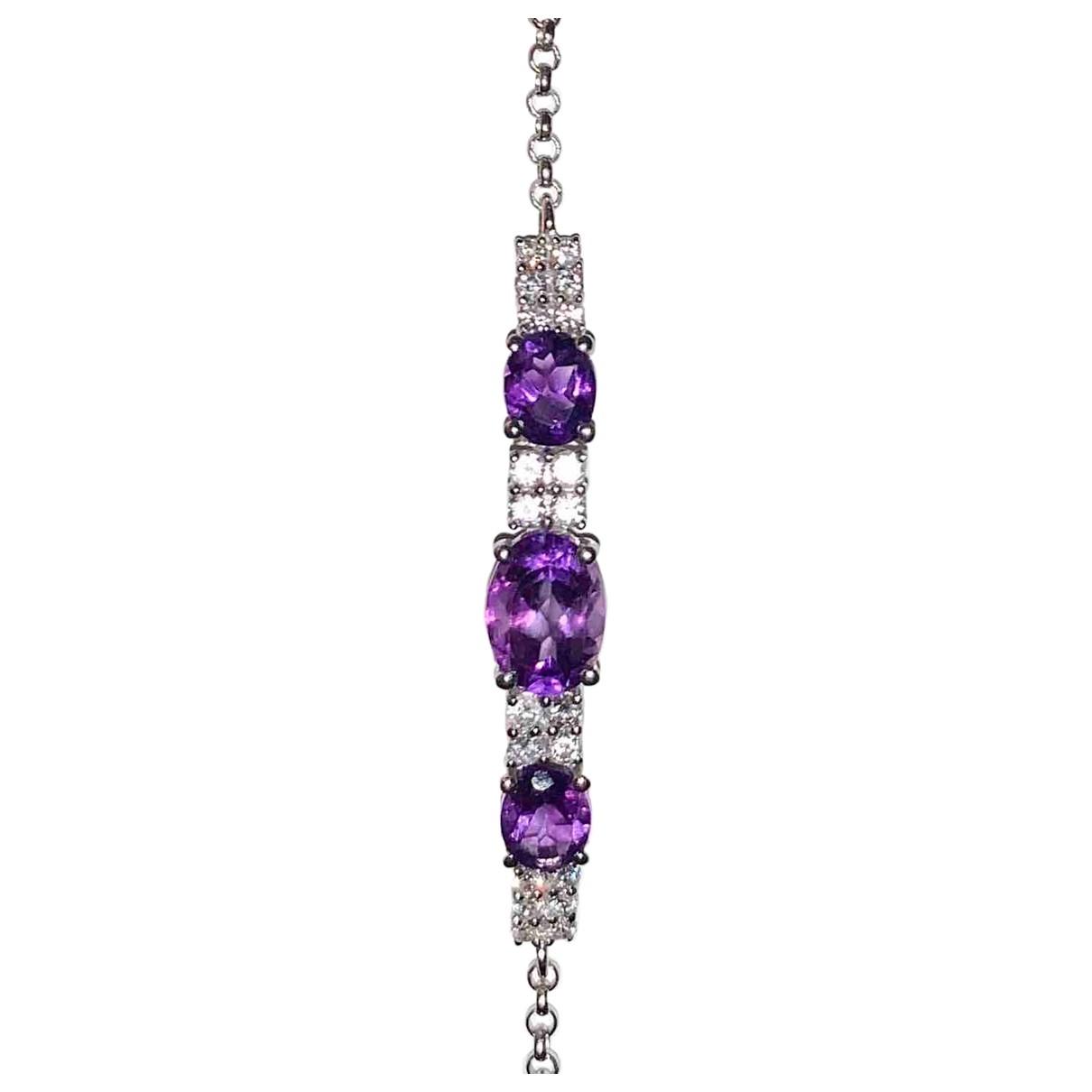 Eduard Kogen \N Purple White gold bracelet for Women \N