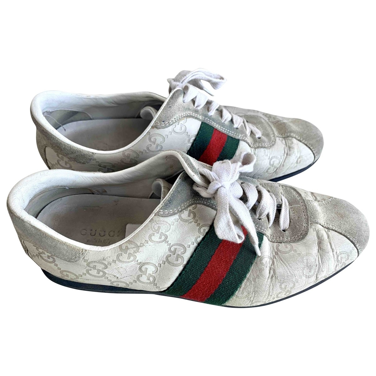 Gucci Ace Beige Leather Trainers for Women 38 EU