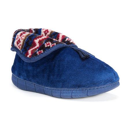 Muk Luks Womens Porschia Slippers, Medium , Blue