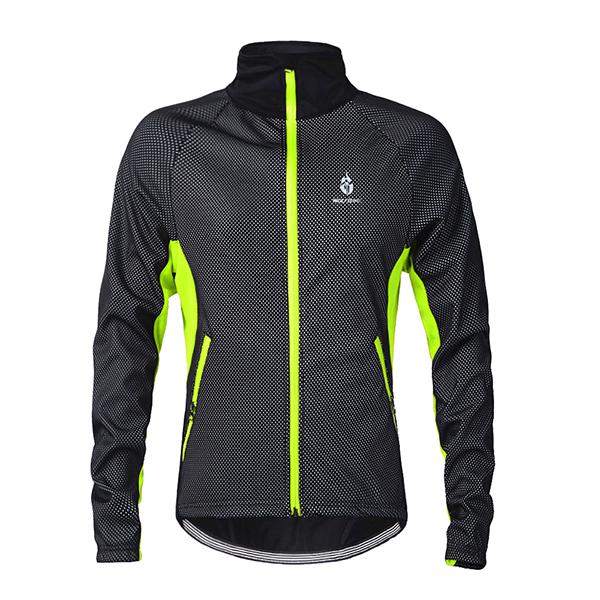 Male Warm Outdoor Long Sleeve Jersey Windproof Cycling Jersey