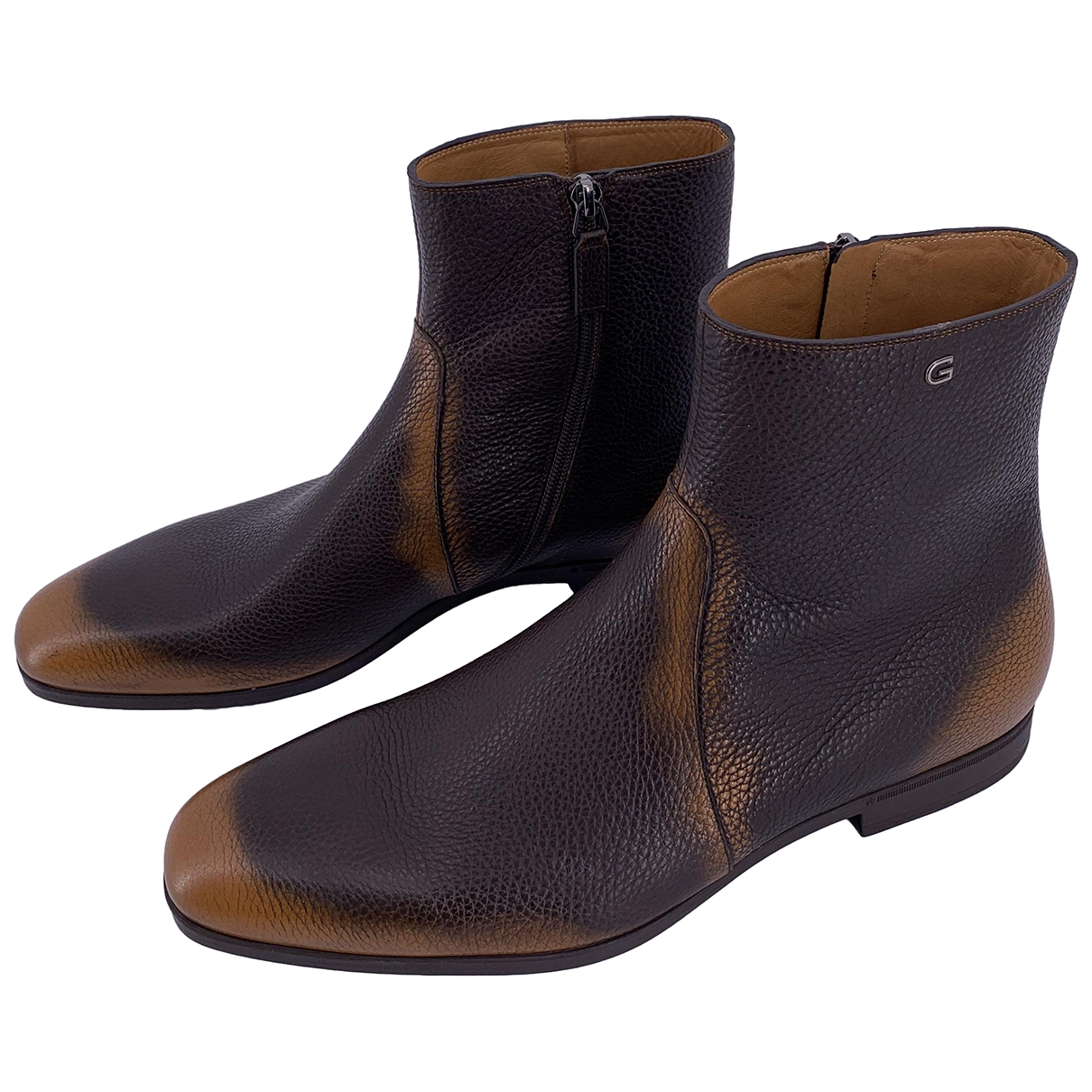 Gucci \N Brown Leather Boots for Men 42.5 EU