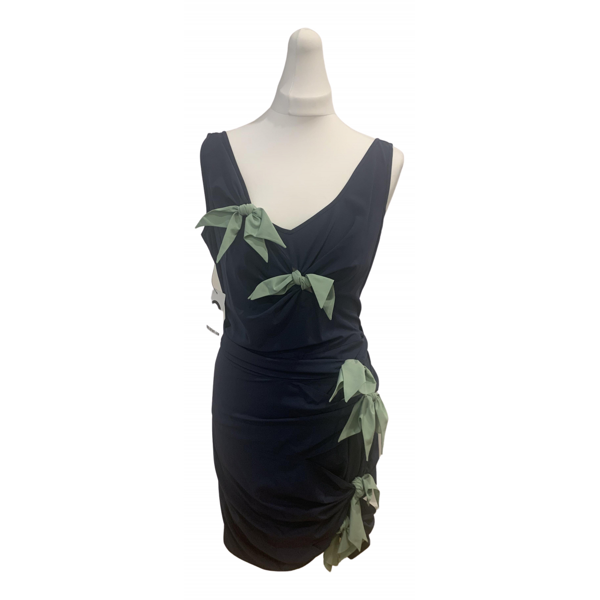 Zac Posen \N Kleid in  Marine Seide