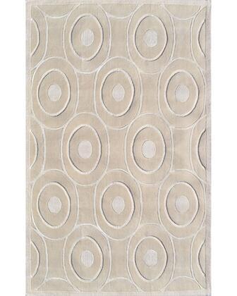 44488F 8 x 11 ft. Cicero Cream Area Rug  in Cream and