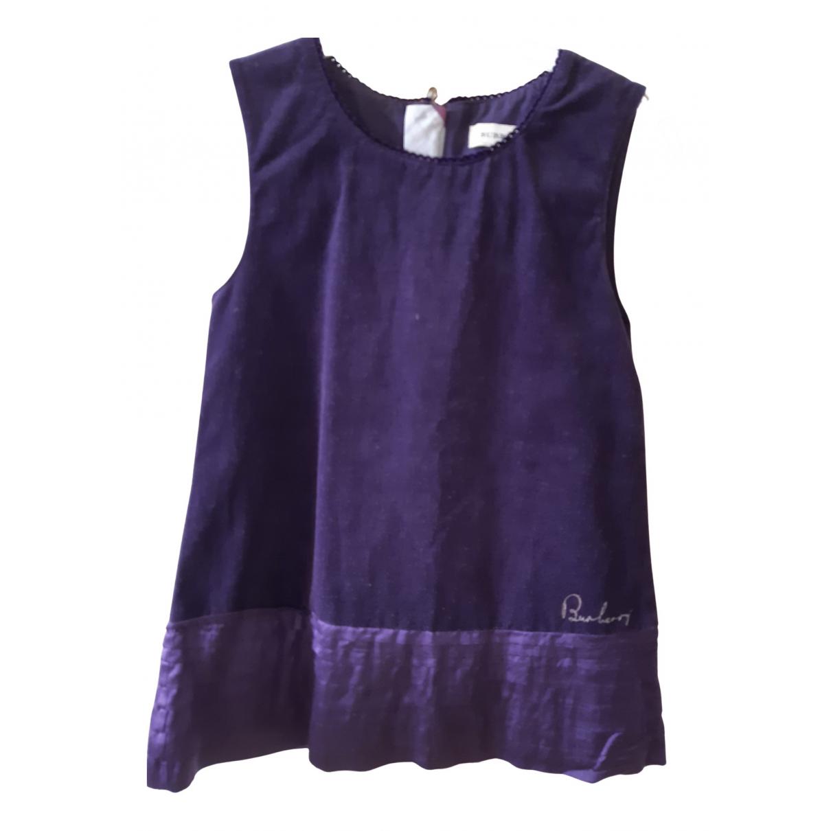 Burberry - Robe    pour enfant en velours - violet
