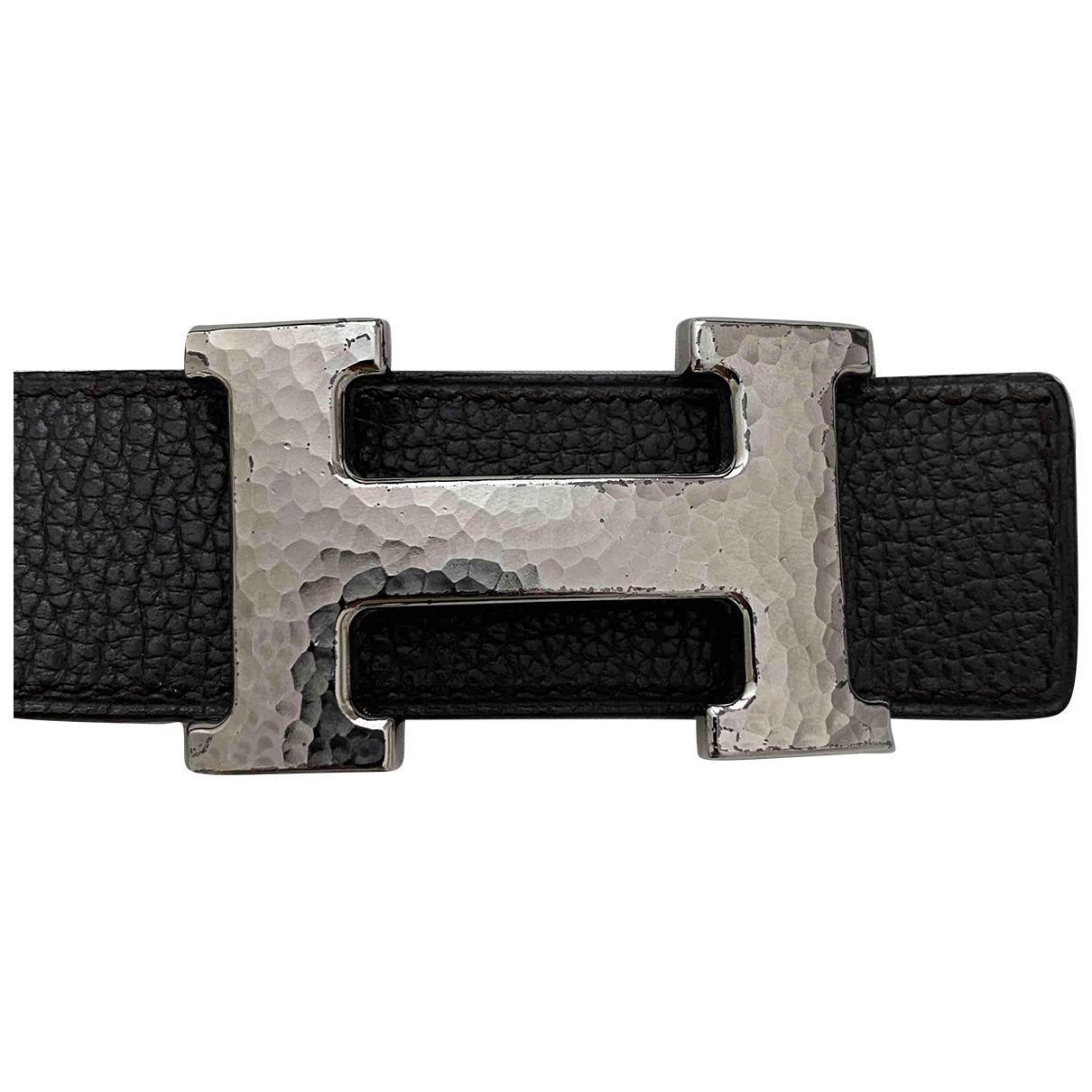Hermes - Ceinture H pour femme en cuir - marron