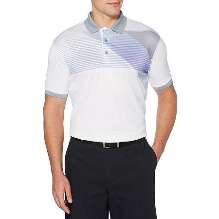 PGA TOUR Mens Short Sleeve Polo Shirt, X-large , White