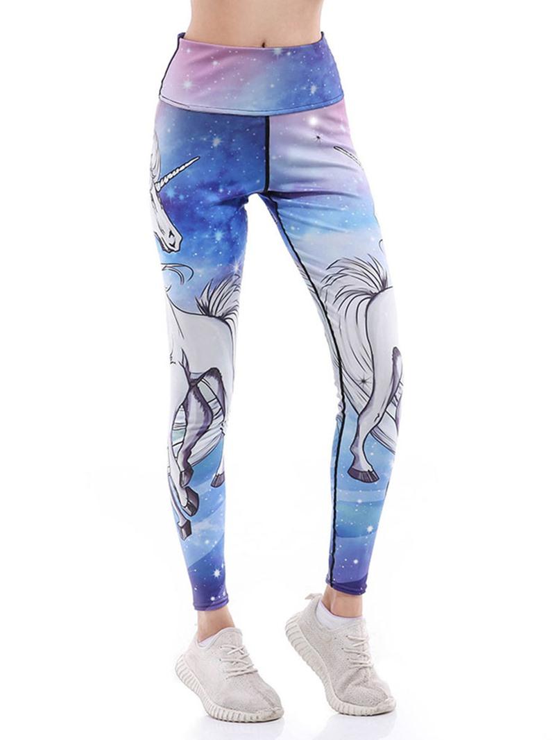 Ericdress Breathable Animal Unicorn Print Yoga Pants