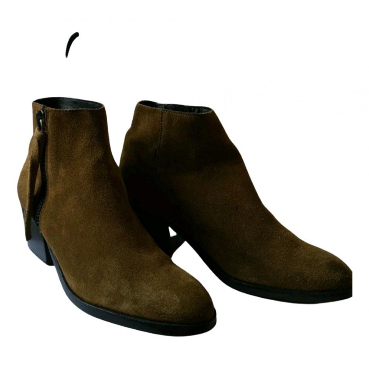 Bimba Y Lola - Boots   pour femme en suede - kaki