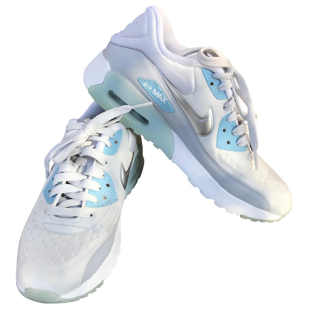 Nike Air Max 90 Silver Cloth Trainers for Women 36 EU