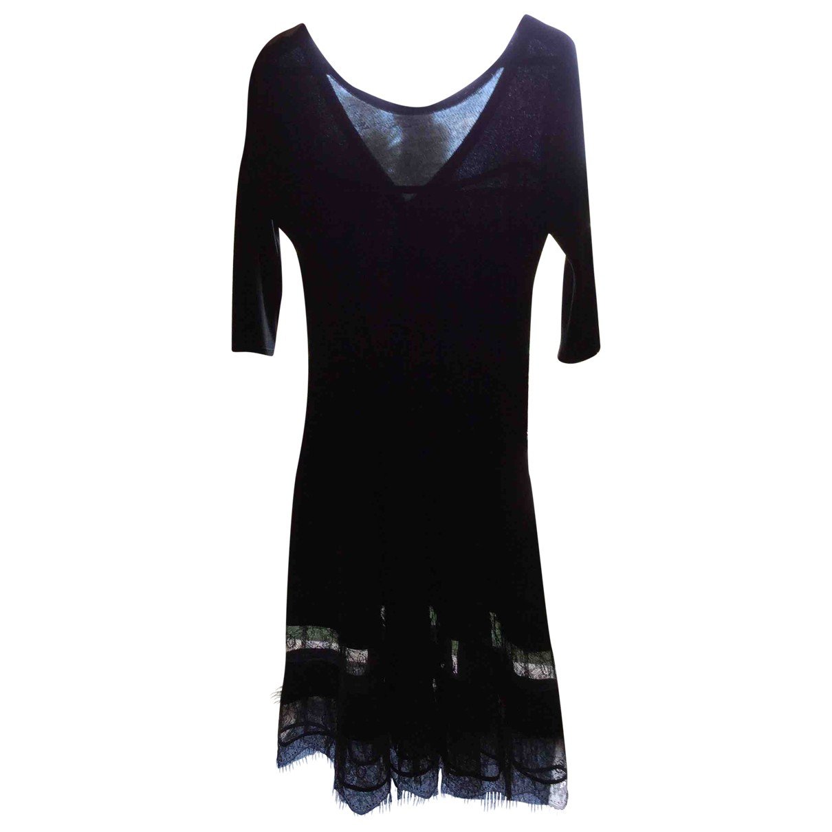 Brigitte Bardot \N Kleid in  Schwarz Viskose