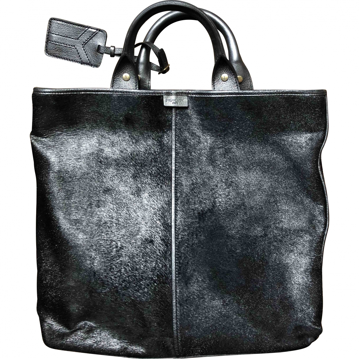 Yves Saint Laurent \N Silver Pony-style calfskin handbag for Women \N