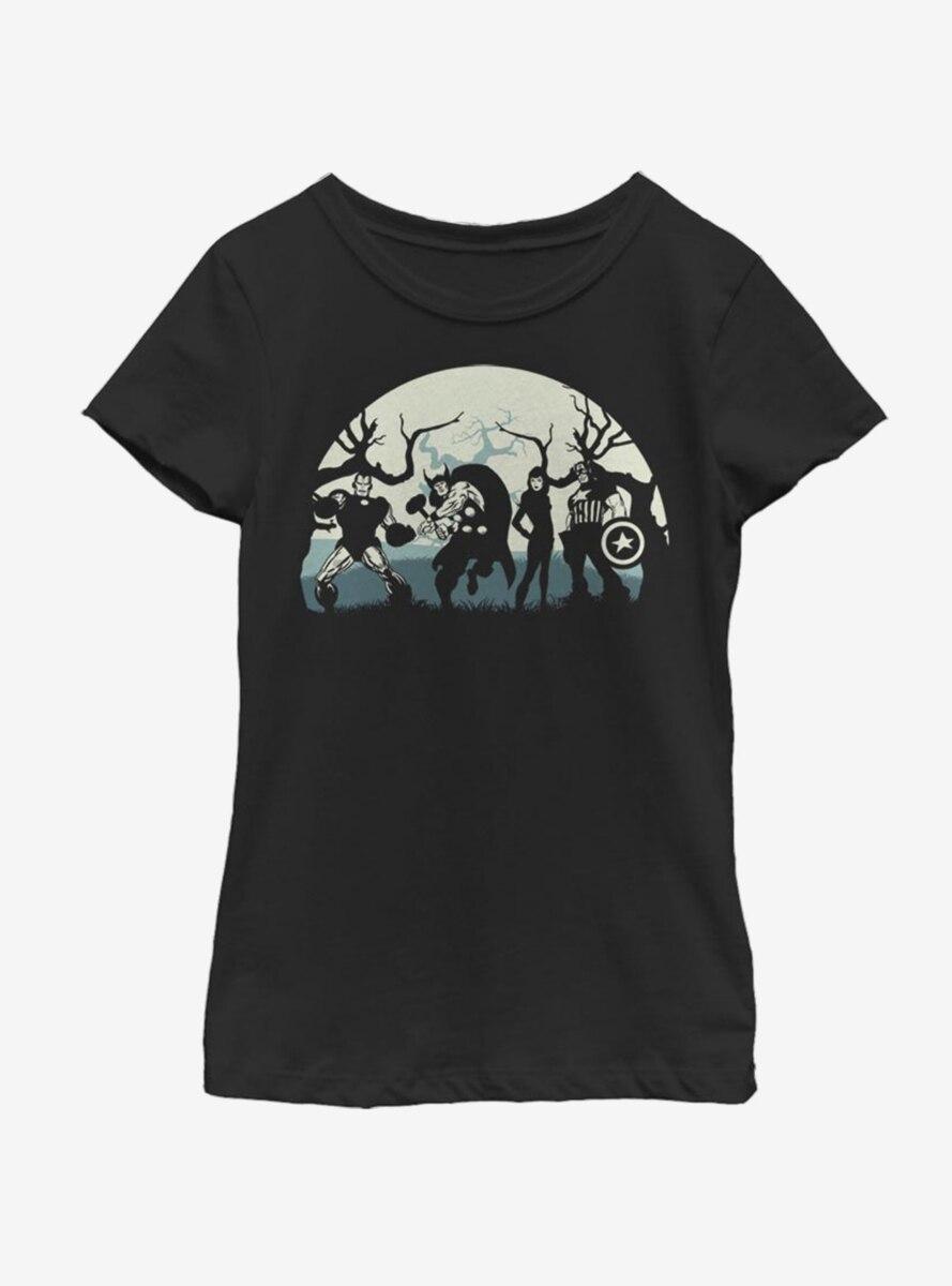 Marvel Avengers Avenge Or Treat Youth Girls T-Shirt
