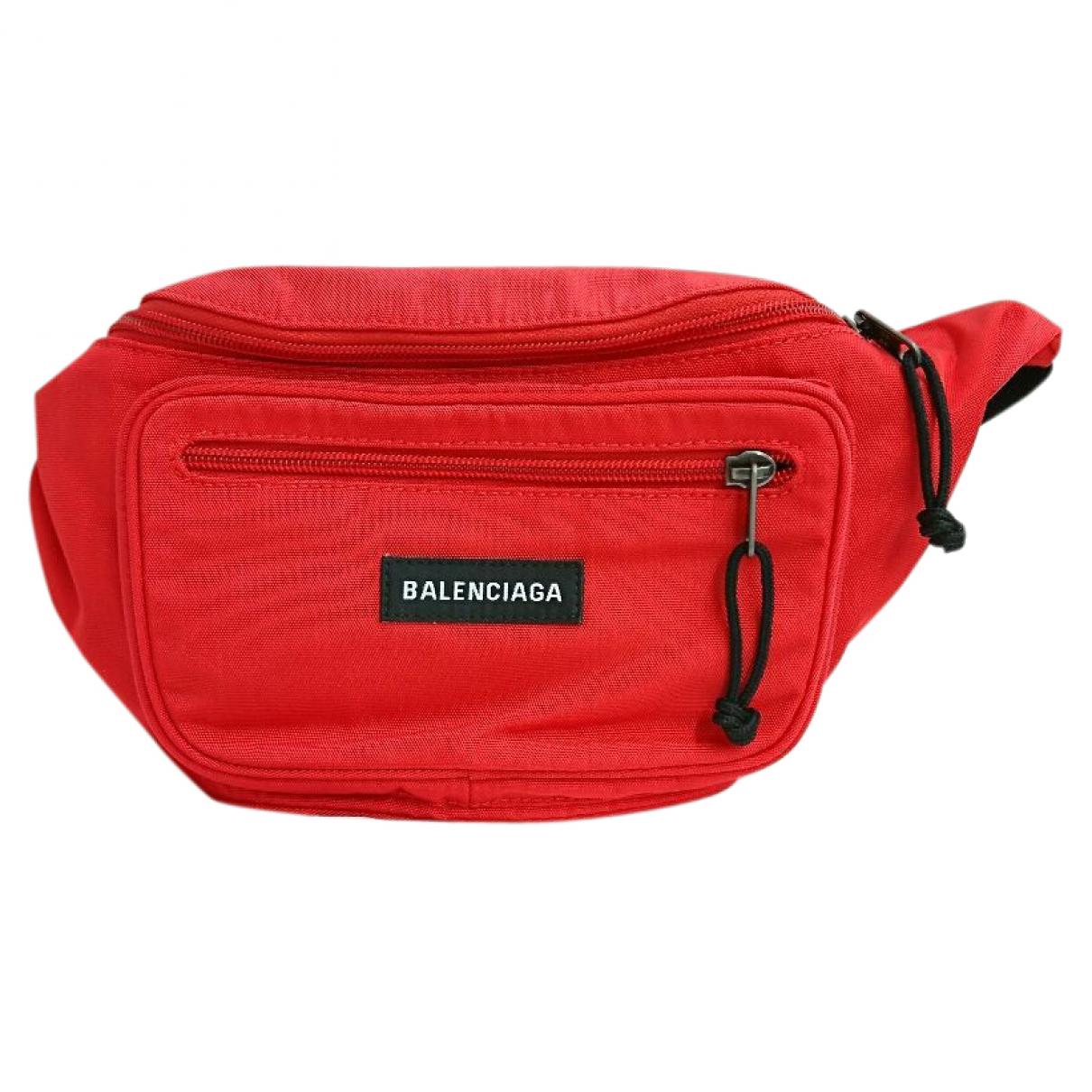 Balenciaga - Pochette   pour femme en toile - rouge