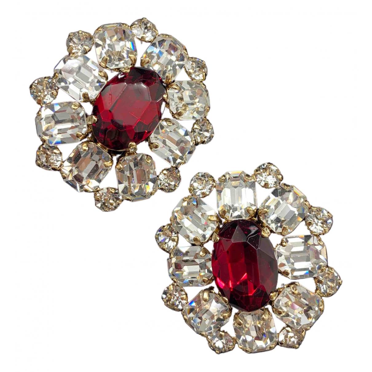 Dsquared2 - Boucles doreilles   pour femme en cristal - bordeaux