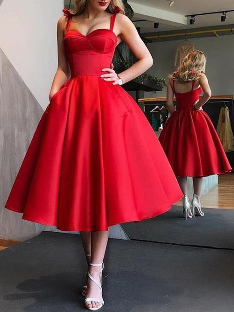 Ericdress Bowtie Straps Pockets Prom Dress