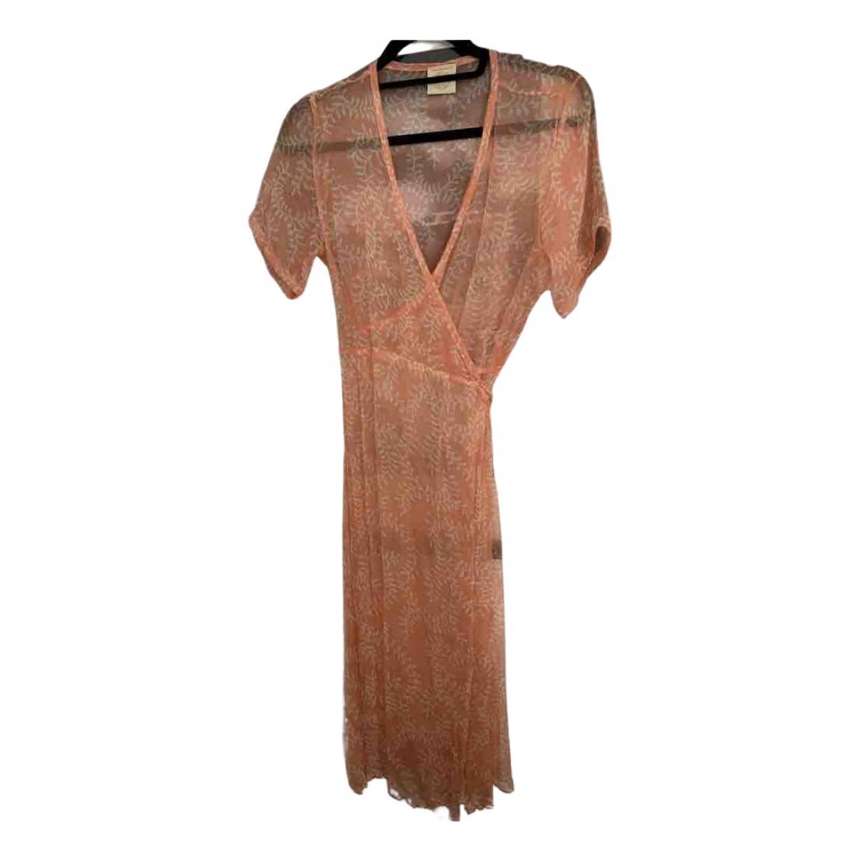 Cloe Cassandro \N Kleid in  Orange Seide