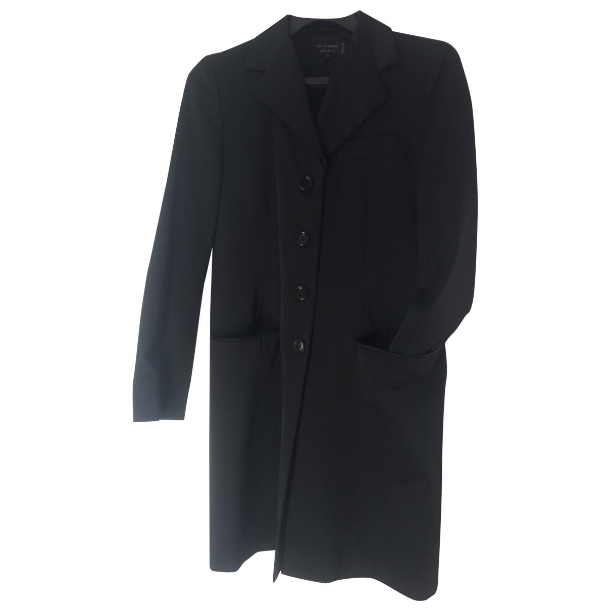 Ter Et Bantine - Manteau   pour femme en coton - noir