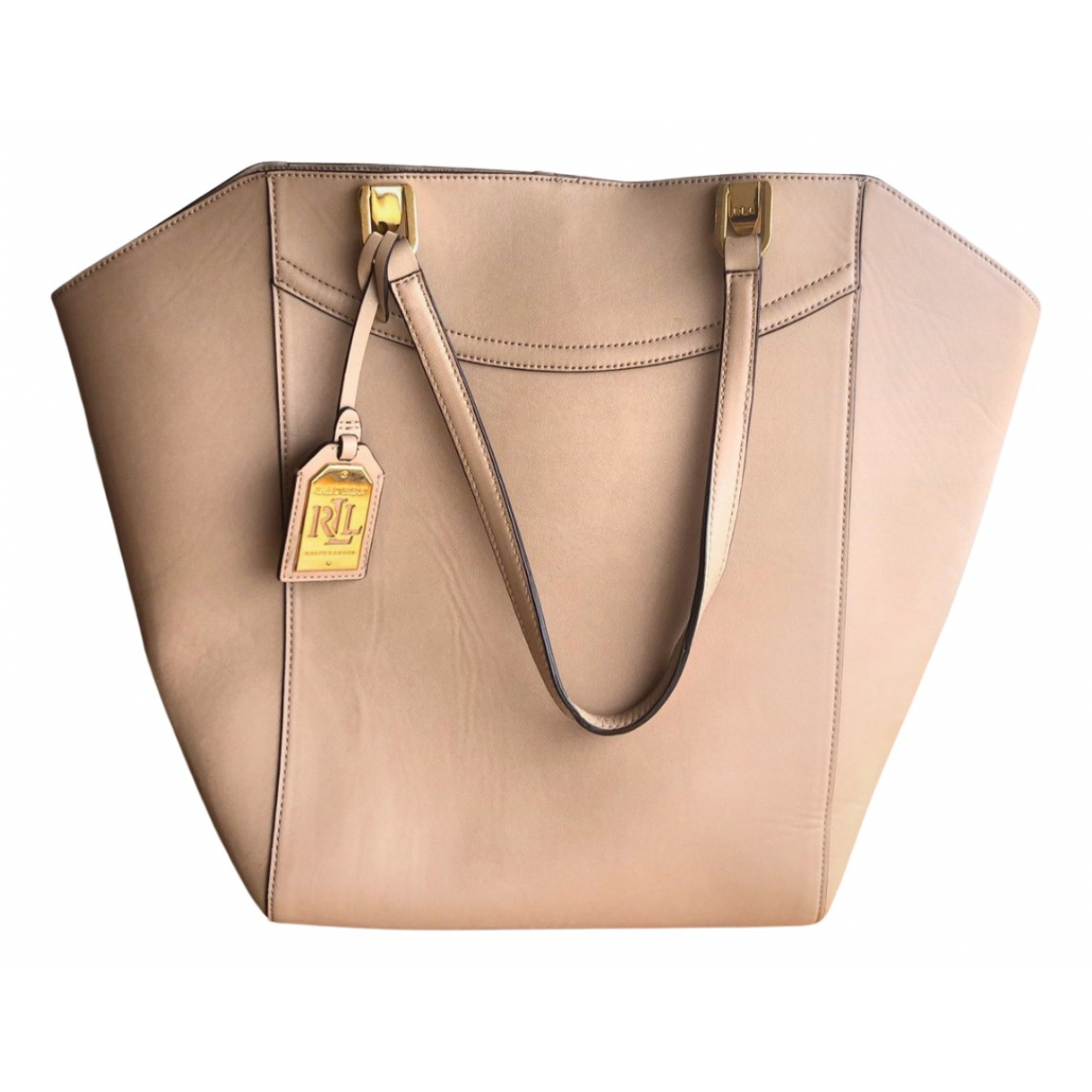 Lauren Ralph Lauren N Beige Leather handbag for Women N