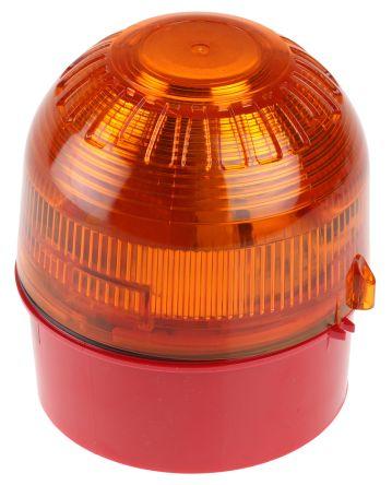 Klaxon Sonos Amber Xenon Beacon, 110 V ac, 230 V ac, Flashing, Surface Mount