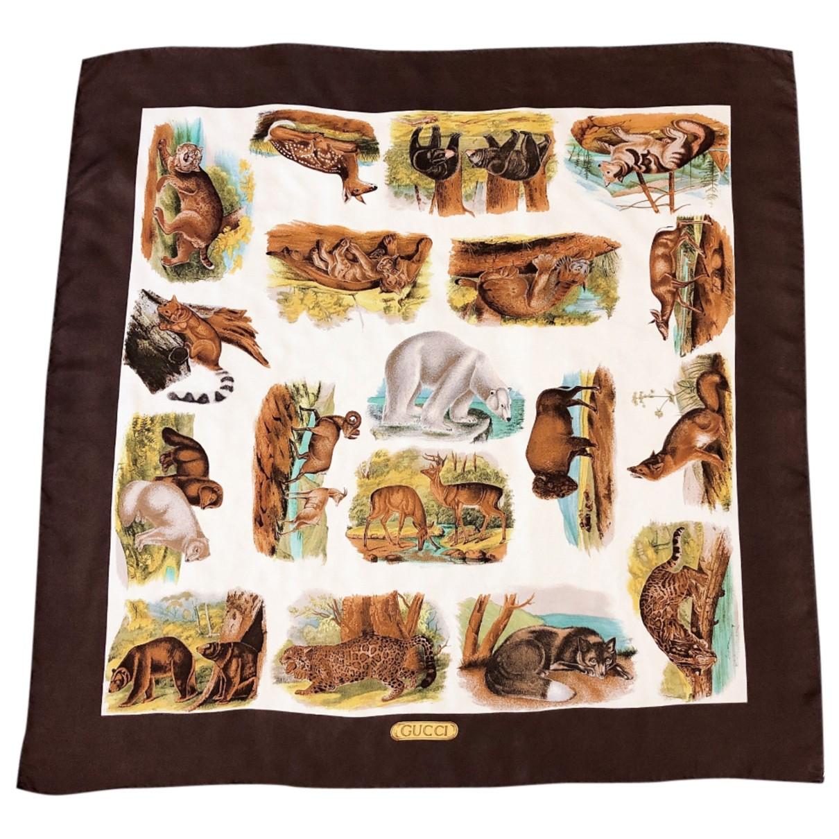 Gucci N Brown Silk scarf for Women N