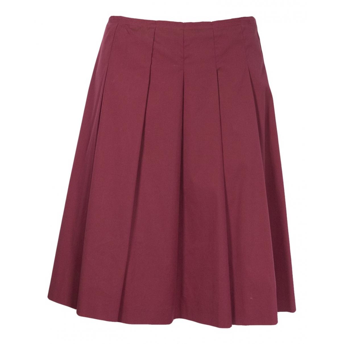 Prada \N Burgundy Cotton skirt for Women 42 IT