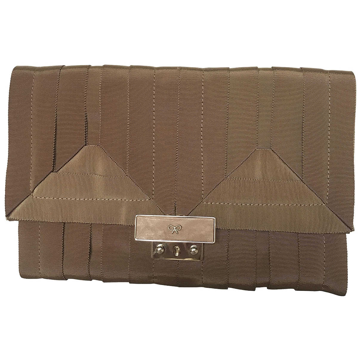Anya Hindmarch \N Clutch in  Braun Veloursleder