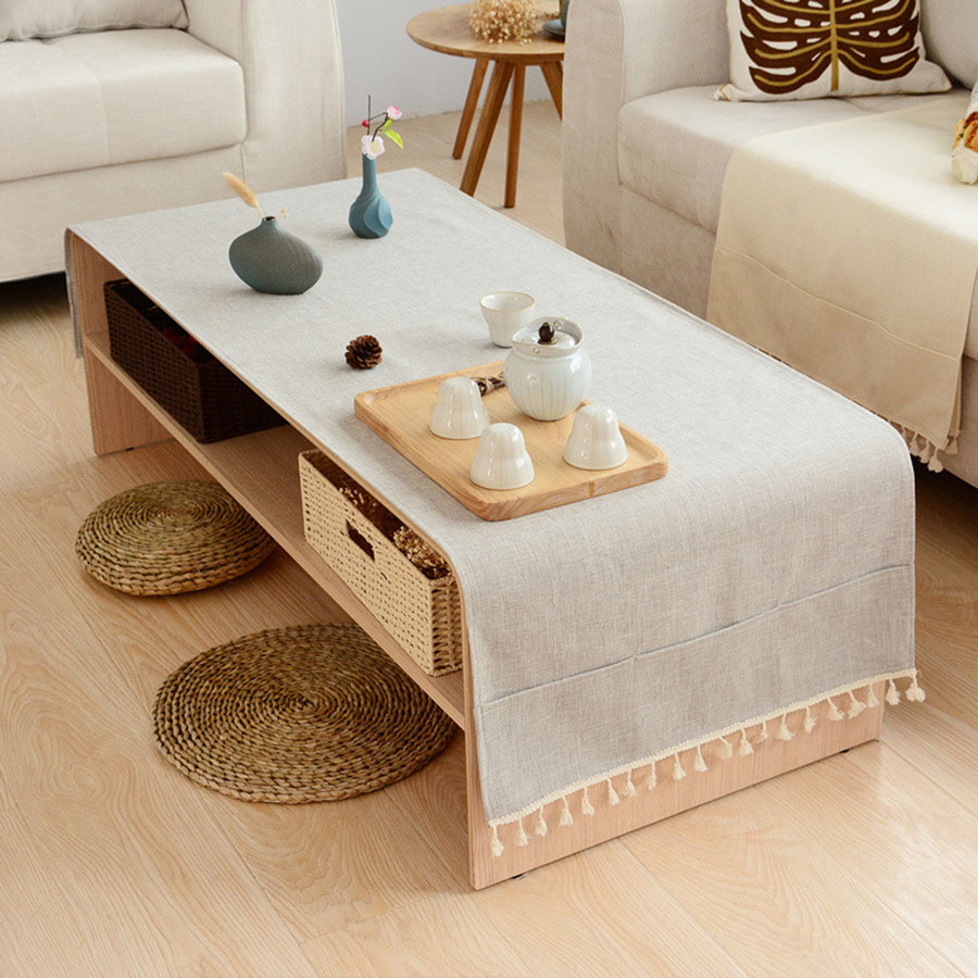 Linen Modern Simple Style Rectangle Table Cloth