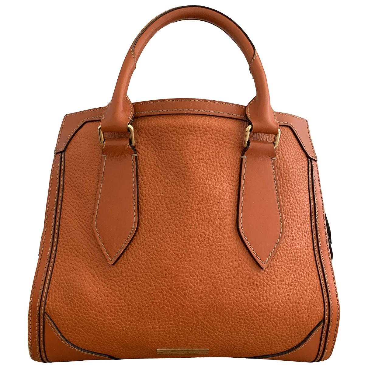 Burberry \N Handtasche in  Orange Leder