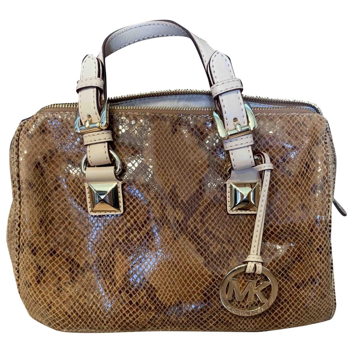 Michael Kors Adele Brown Leather handbag for Women \N