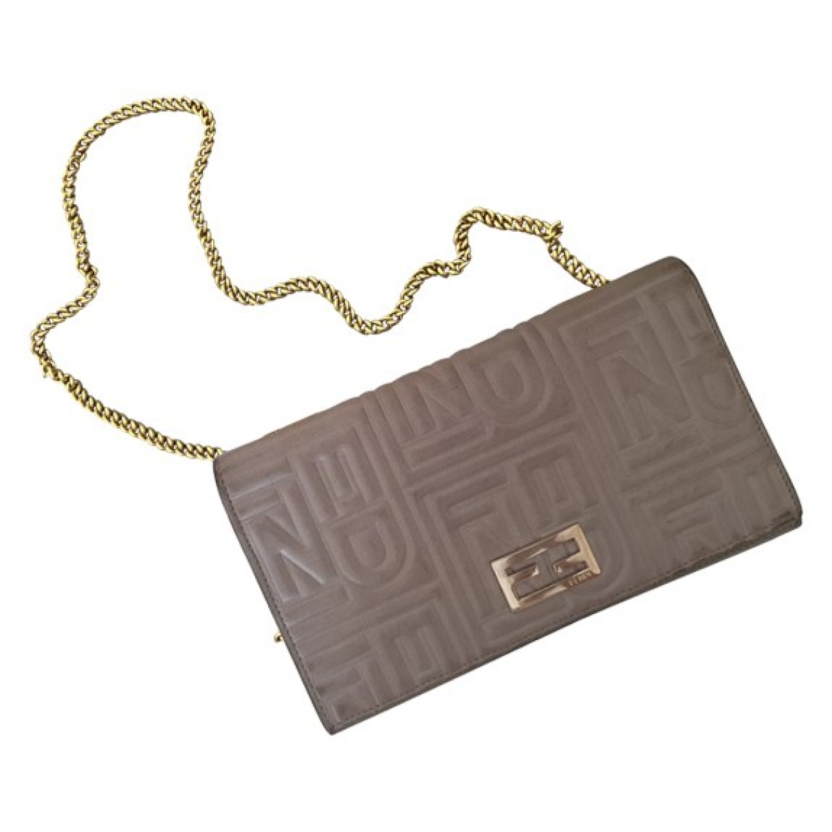 Fendi \N Grey Leather Clutch bag for Women \N