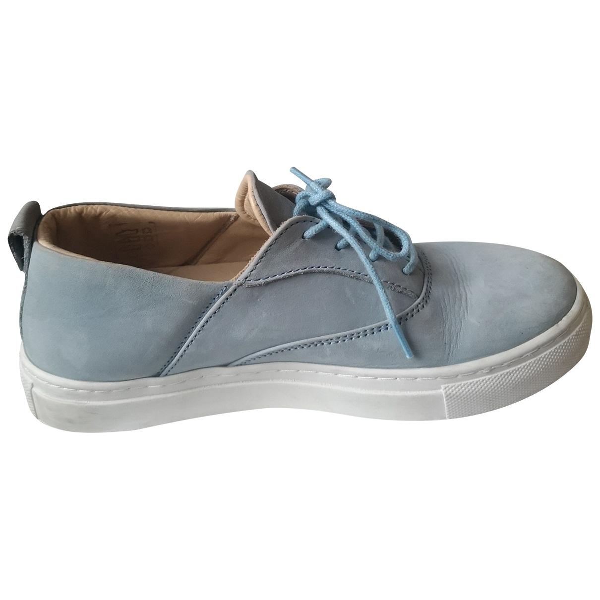 Garconne & Cherubin \N Sneakers in  Blau Leder