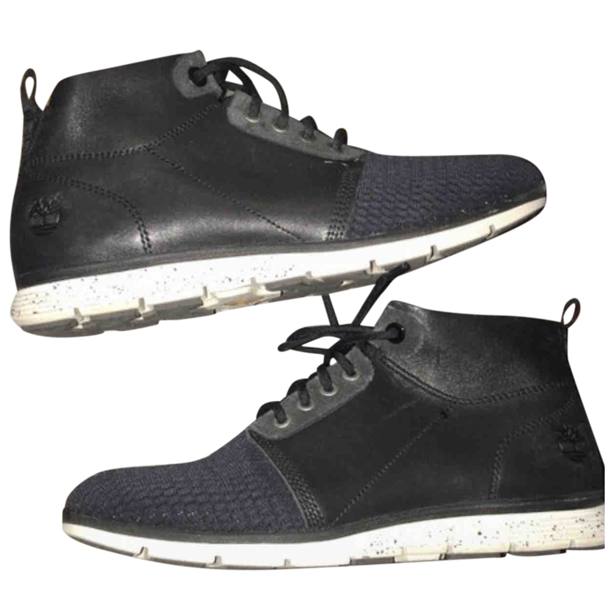 Timberland N Black Leather Ankle boots for Women 39 EU