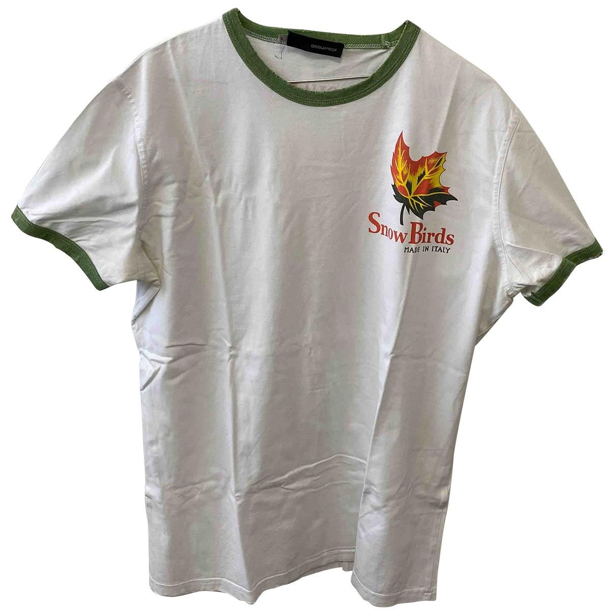 Dsquared2 \N White Cotton T-shirts for Men XL International