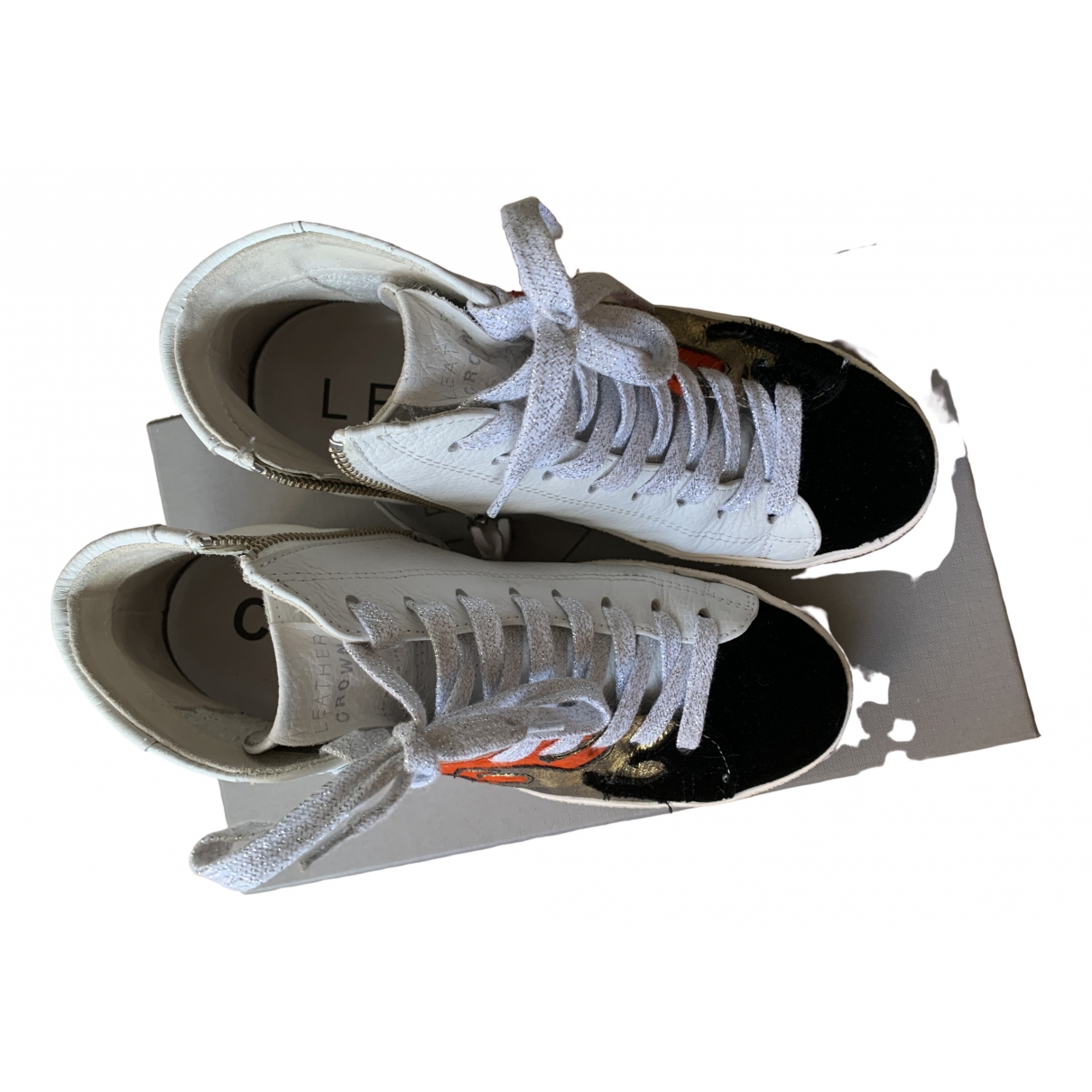 Leather Crown \N Multicolour Leather Trainers for Women 36 EU