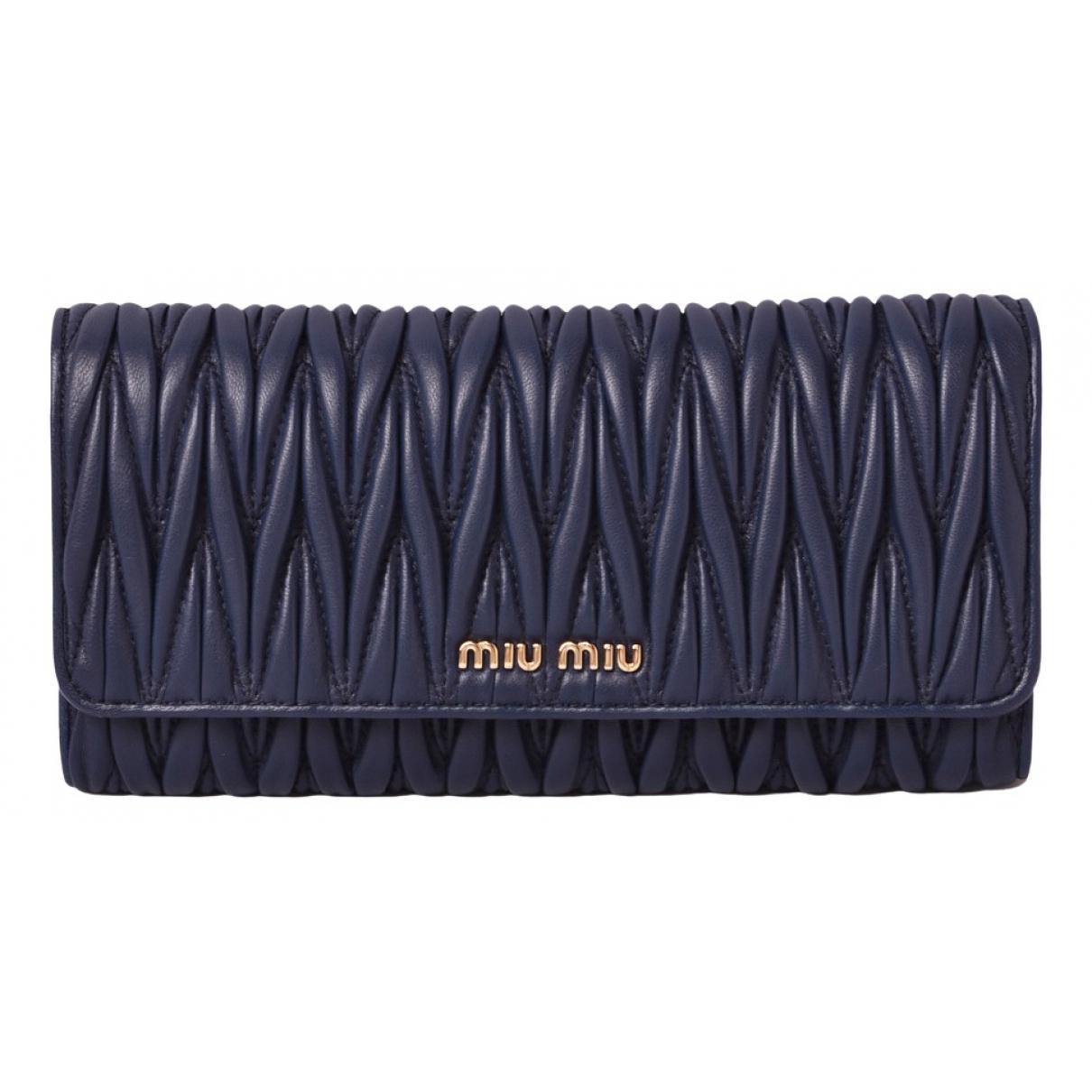 Miu Miu N Navy Leather wallet for Women N