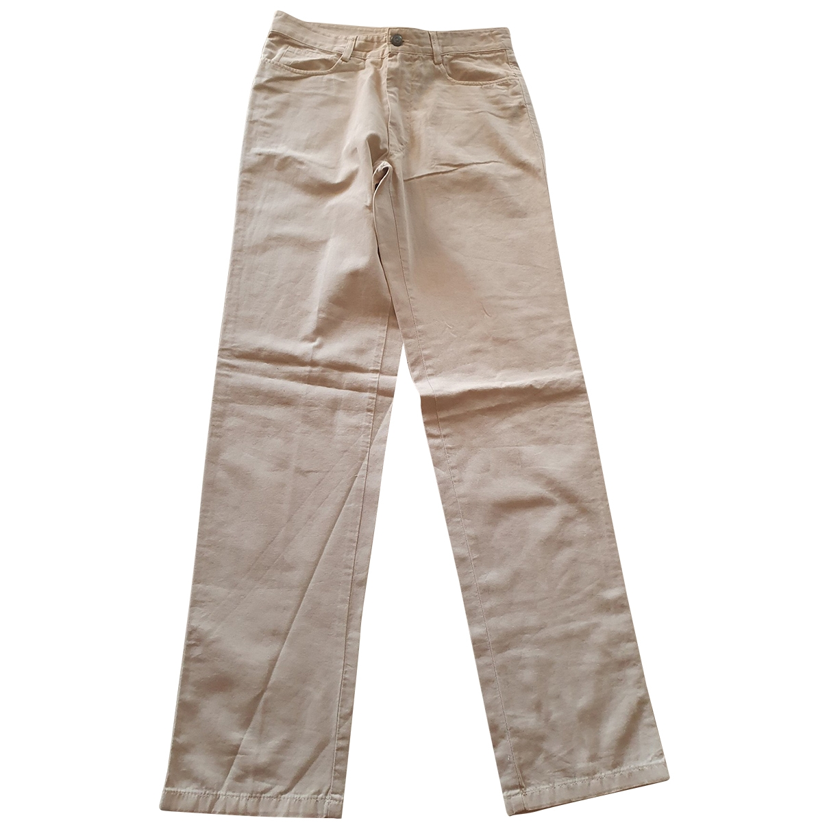 Fay \N Beige Cotton Trousers for Men 46 IT