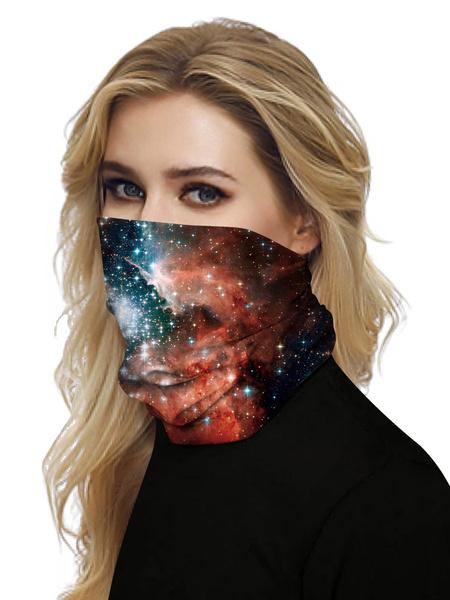 Milanoo Face Veil Mouth Cover Bandanas 3D Print Seamless Face Scarf Cover Veil